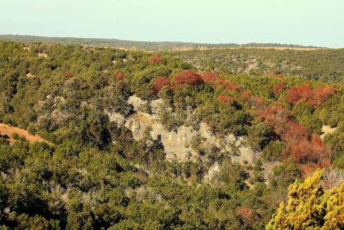 Arbuckle Mountains In Early Fall