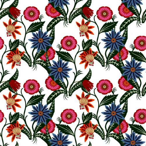 Floral Wallpaper Pattern Background
