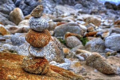 Zen Rocks At Beach