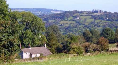 castle natural landscape highland property hill