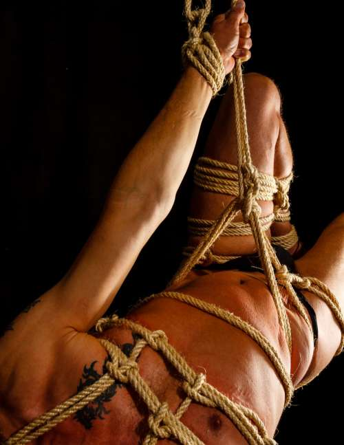 bondage fetish man rope studio