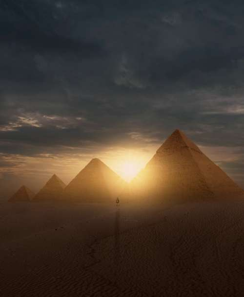 digital pyramid sky natural environment atmospheric phenomenon