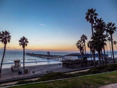 San Clemente beach sunset California