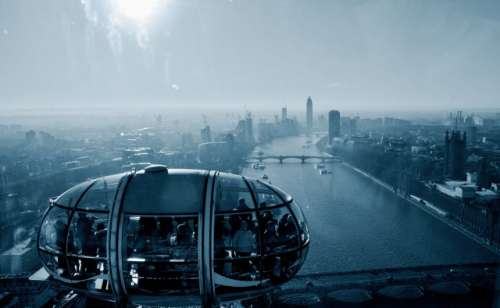 City view from London eye
