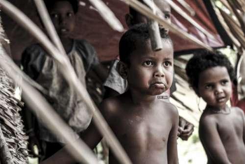 """""""Orang Asli """" kids at Jerantut Pahang Malaysia"""