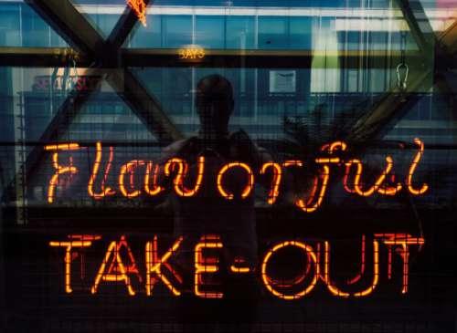 Neon reflections.