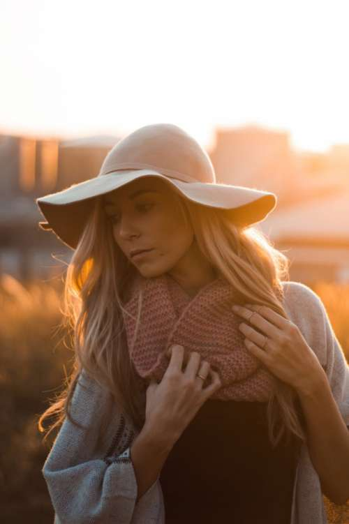 Autumn sunrise portrait