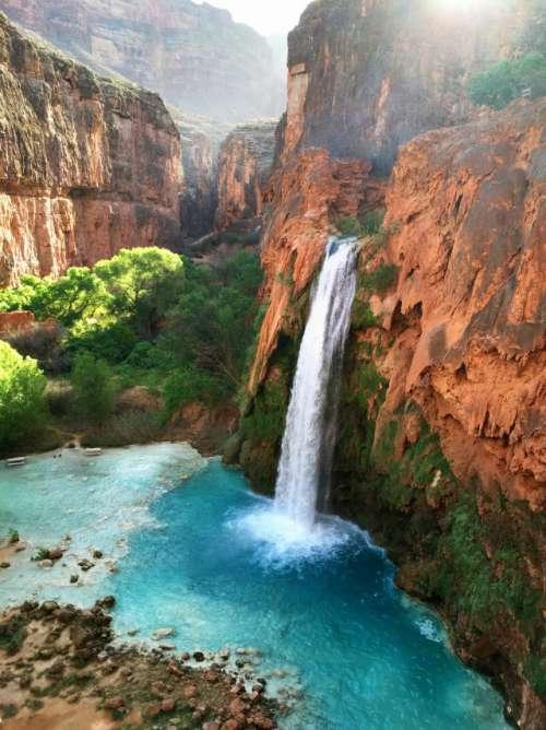 Waterfall at Sunrise