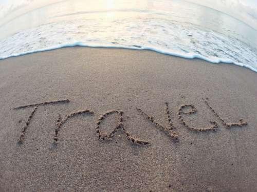 Travel written on the sand