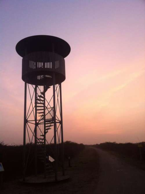 Watch Tower at Sunset