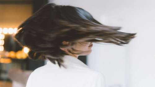 Woman's Hair in move