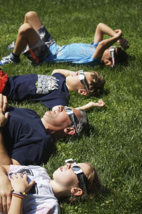 Gazing Up at the Solar Eclipse