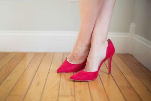 heels woman red shoes footwear