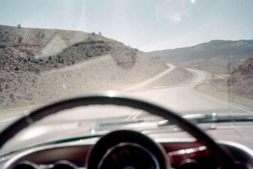 highway car vintage road america