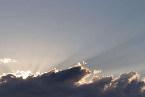 sunset sky clouds sunrise light