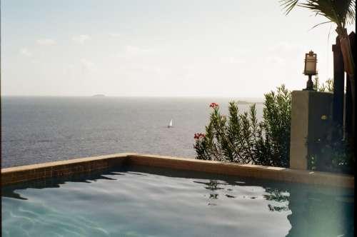 resort pool view water ocean