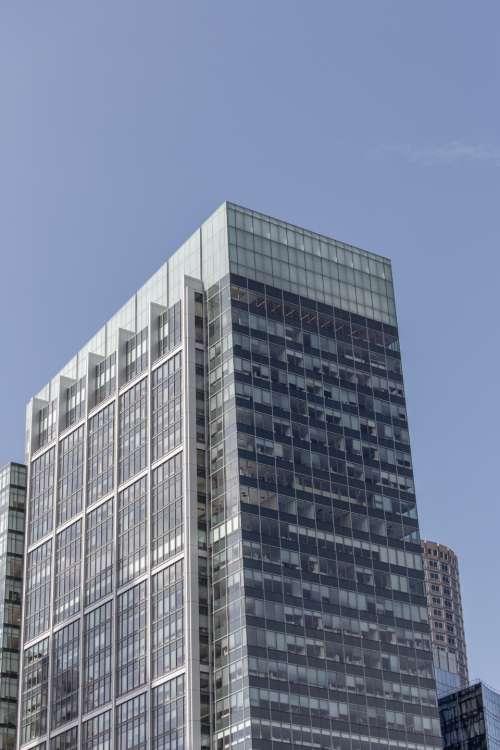 glass building windows downtown business