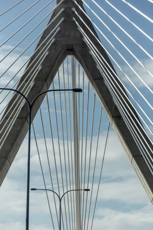 bridge abstract city angle architecture