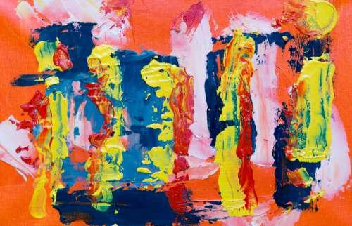 splatter abstract painting art artist