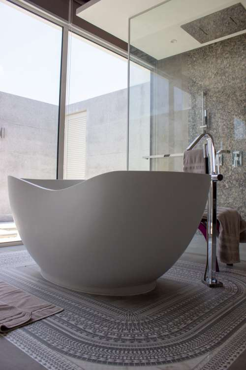 Bathtub in the Center of the Room