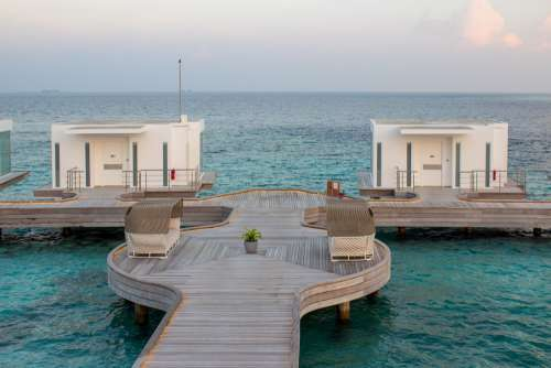 On Water Bungalows in Maldives