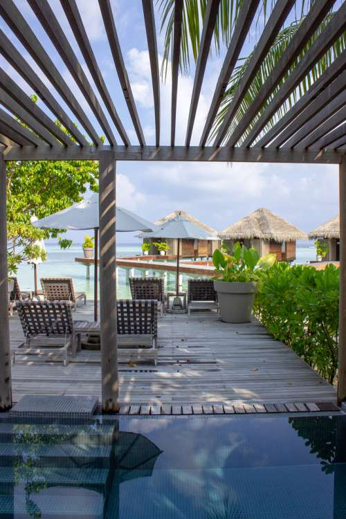 View of Overwater Villas From the Terrace