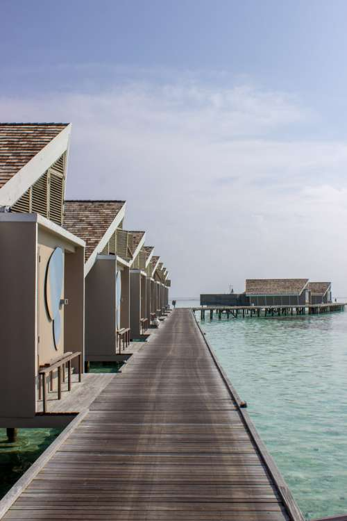 Path to the On-Water Bungalows in Maldives