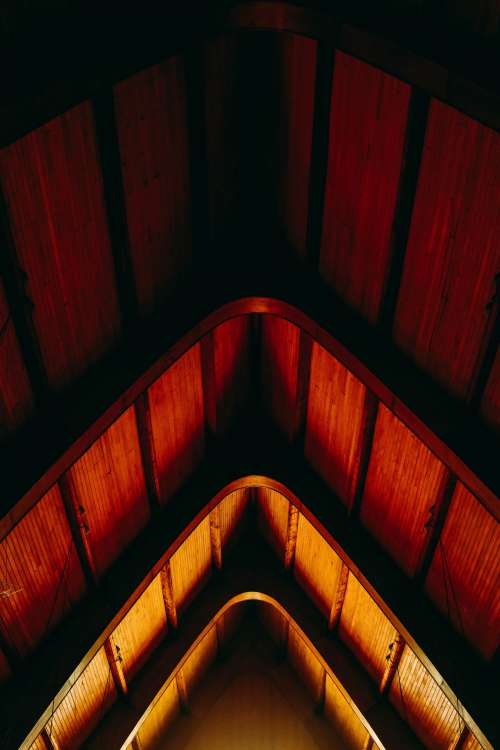 Red And Yellow Gabled Roof Photo