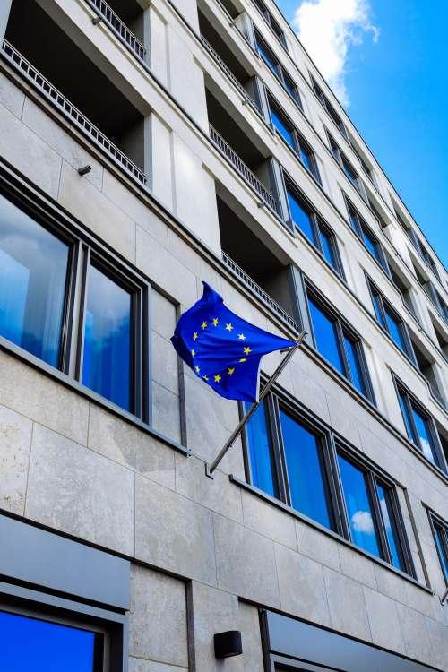 European Flag On Gray Building Photo