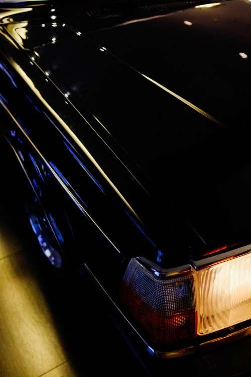 Shiny Black Car Truck Photo