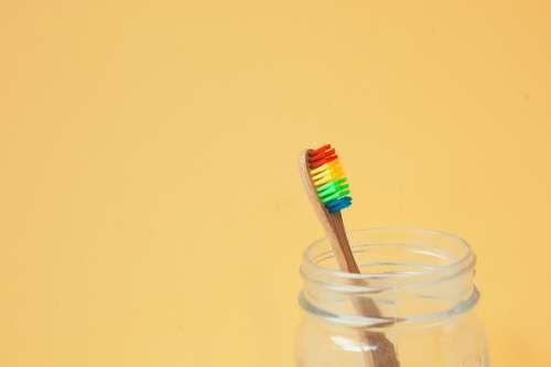 Rainbow Toothbrush Photo