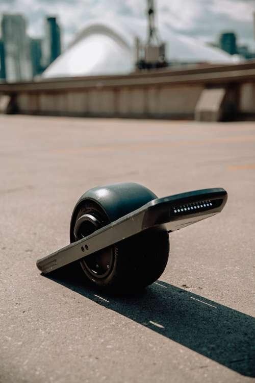 Electric Skateboard In The Sun Photo
