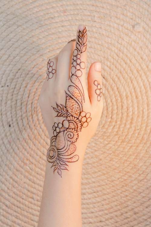Body Art On Hand Photo
