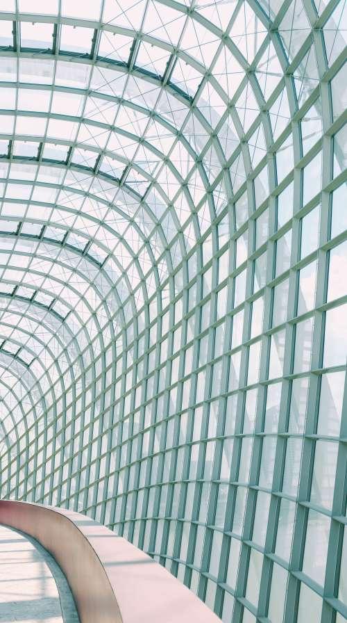 Curved Glass Walkway Photo