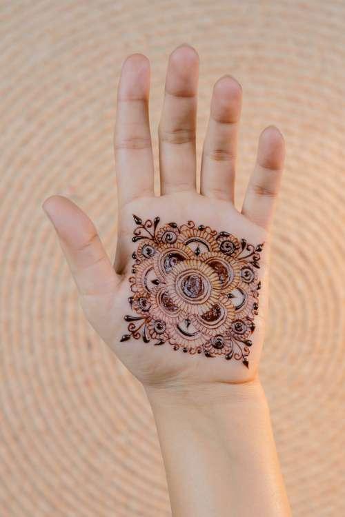 Henna On Palm Photo