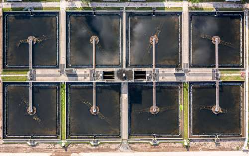 Aerial View Of Water Treatment Plant Photo