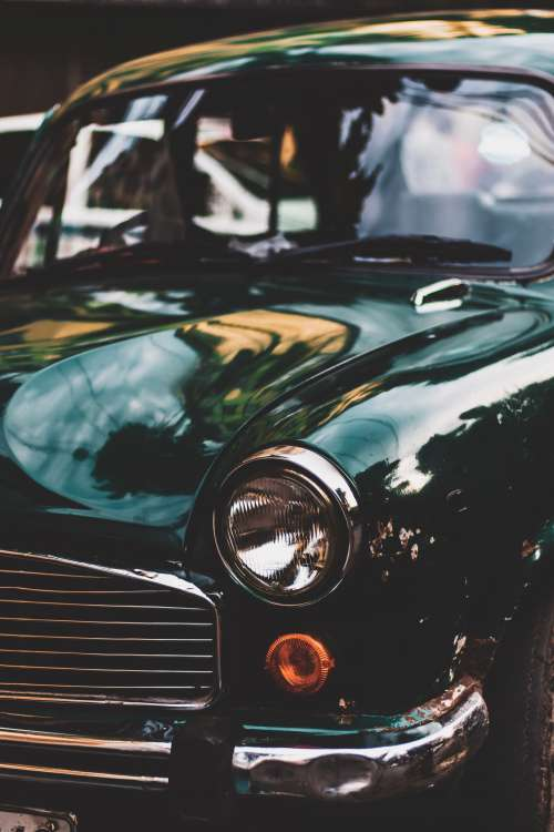 Polished Vintage Car Photo