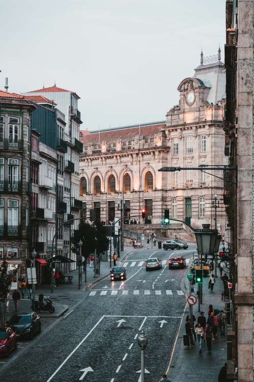 City Street In Portugal Photo