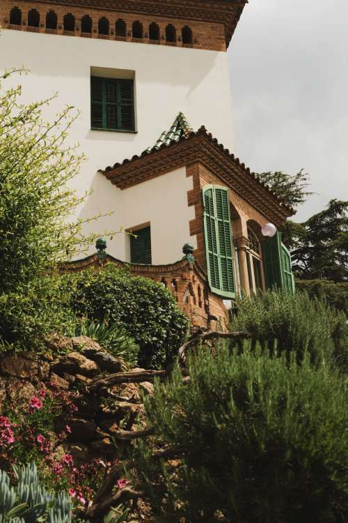 House With Green Shutters Photo