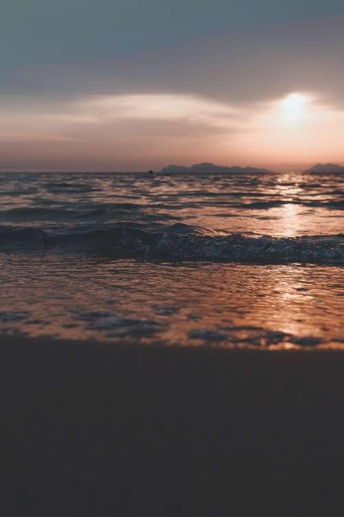 Sunset Waves On The Shore Photo