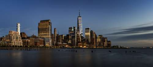 New York Skyline From The Water Photo