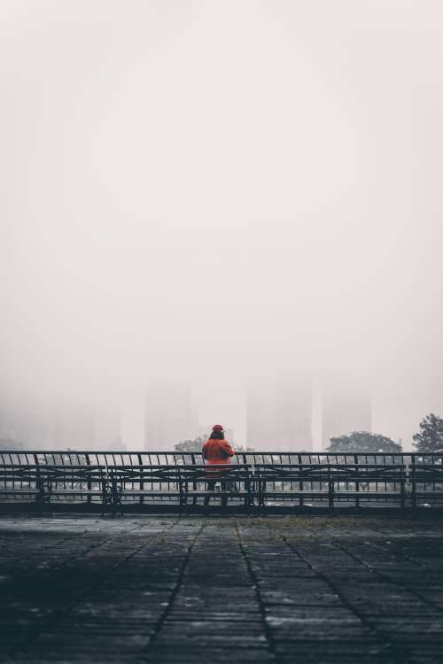 Looking At A Foggy City Photo