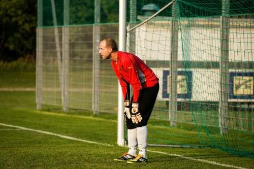 Goalkeeper in defense position