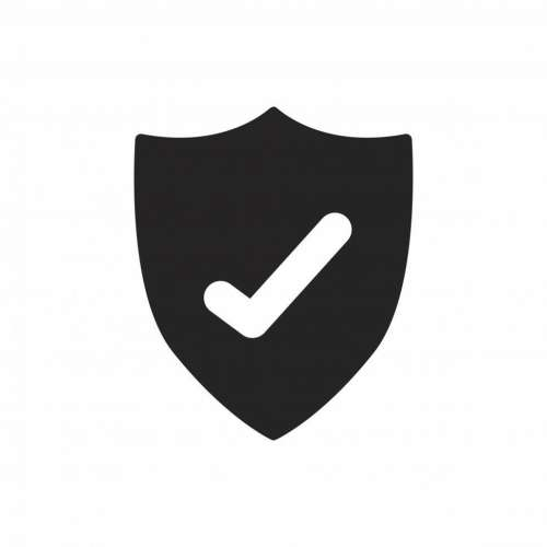 Antivirus shield vector icon