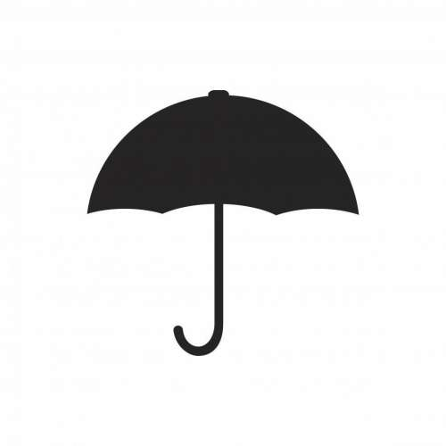 Black umbrella symbol
