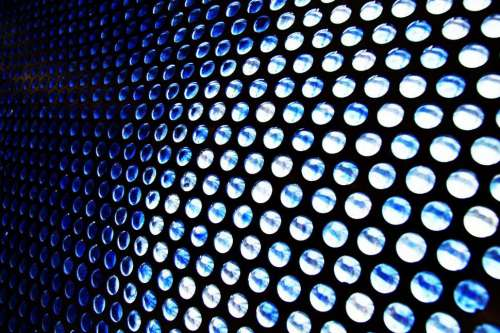 Plane of Glass Spheres
