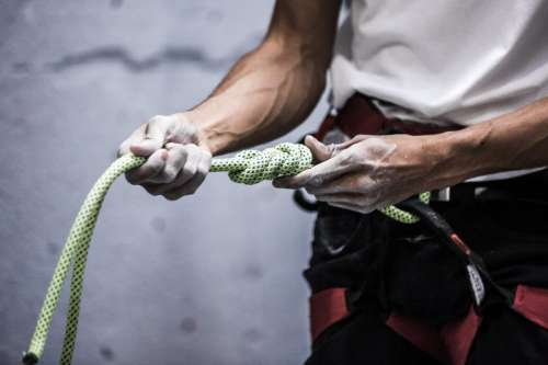 Hands on Climbing Rope