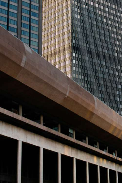 City Building Perspective Free Photo