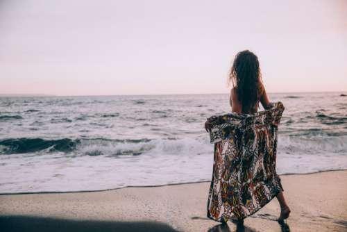 Female Beach Ocean Free Photo