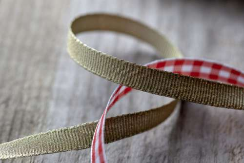 Wood Gold Ribbon Free Photo
